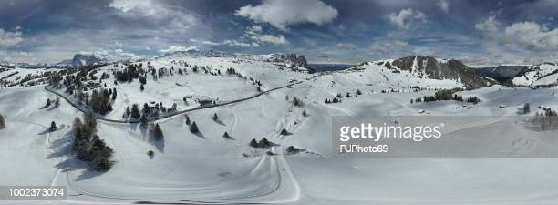 Panoramic view of Sciliar mountains and Seiser Alm - Dolomites - Italy