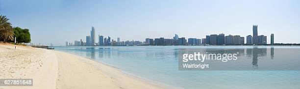 Panoramic View Of Sea Against Abu Dhabi skyline