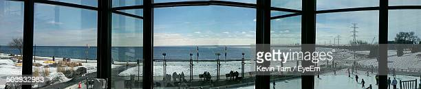 panoramic view of sea through glass windows - eyeem kevin tam stock pictures, royalty-free photos & images