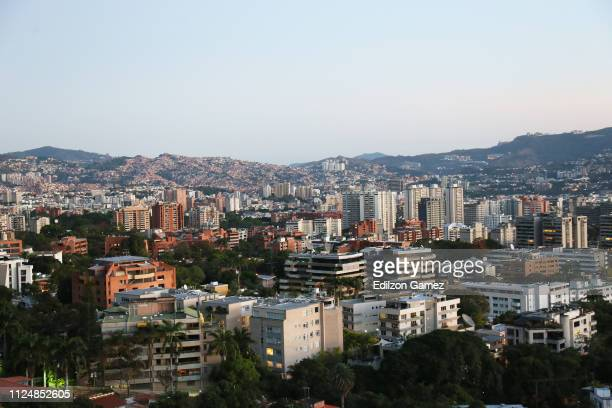 Panoramic view of Sebucán district on January 25 2019 in Caracas Venezuela