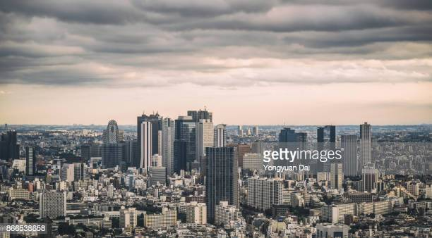 Panoramic View of Shinjuku Skyscrapers