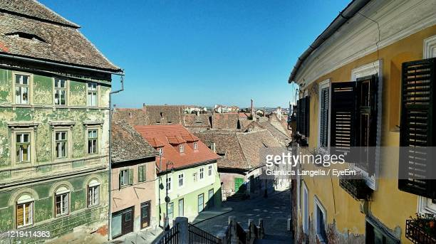 panoramic view of sibiu near the podul minciunilor - gianluca langella imagens e fotografias de stock