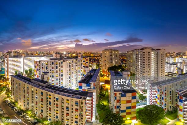 A panoramic view of Singapore central region public housing