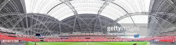 A panoramic view of Singapore National Stadium before the International Champions Cup match between Chelsea FC and FC Bayern Munich at National...