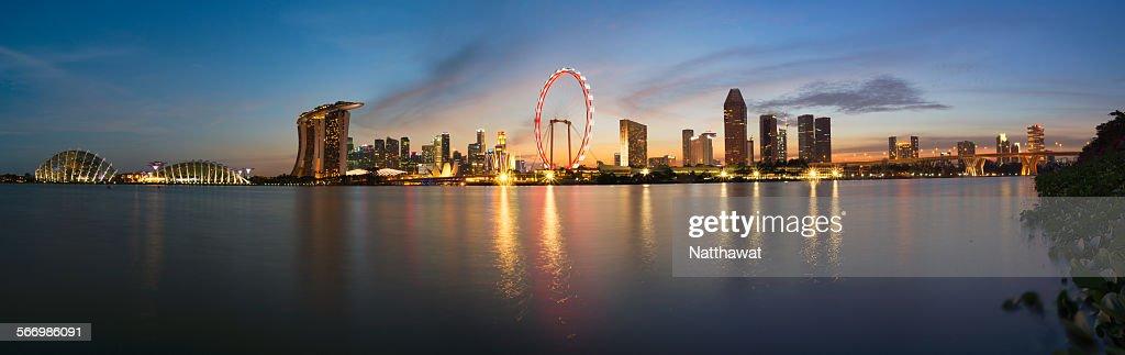 Panoramic View of Singapore Skyscraper : Stock Photo