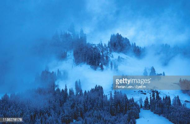 panoramic view of snow covered land against sky - 北チロル ストックフォトと画像