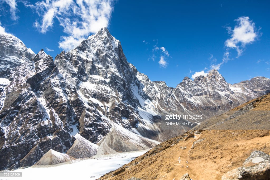 Panoramic View Of Snowcapped Mountains Against Sky : Stock Photo