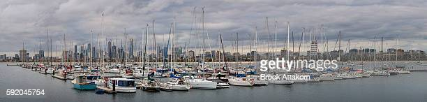 Panoramic view of St Kilda Pier Melbourne.