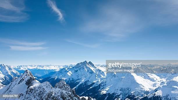 Panoramablick auf St.Anton am Arlberg ski area von Valluga