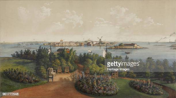 Panoramic View of Sveaborg and Helsingfors 1855 Found in the Collection of State Museum of the History of Saint Petersburg