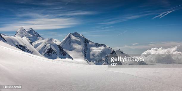 panoramic view of swiss alps at matterhorn glacier paradise, zermatt, switzerland - berg stock-fotos und bilder