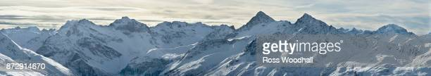 Panoramic view of Swiss mountains