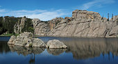 Panoramic View Of Sylvan Lake, South Dakota