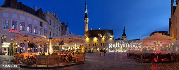 Panoramic view of Tallinn Town Square