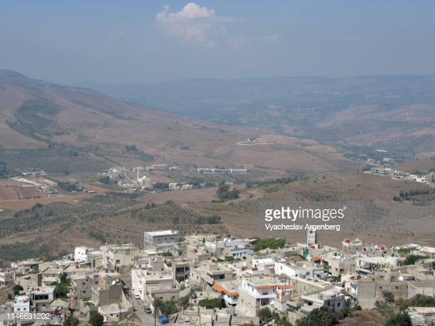 panoramic view of tartus hills, homs gap, syria - argenberg ストックフォトと画像