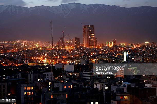 A panoramic view of Tehran is seen on June 4 2007 in Tehran Iran Approximately 14 million people live in the metropolitan district of Iran's capital...