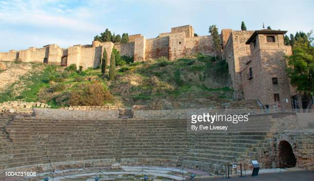 Panoramic View of the Alcazaba (Citadel) of Malaga and part of the Roman Forum
