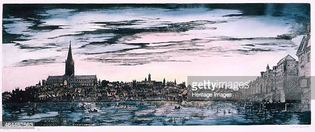 Panoramic view of the City of London from St Paul's Cathedral to London Bridge viewed from Southwark 1530