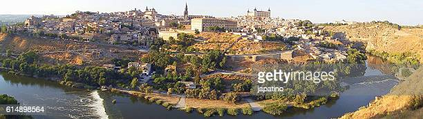 Panoramic view of the city of Toledo and the Tajo River that surrounds the city