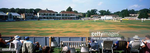 A panoramic view of the County Ground Northlands Road Southampton during a match 8th September 1999