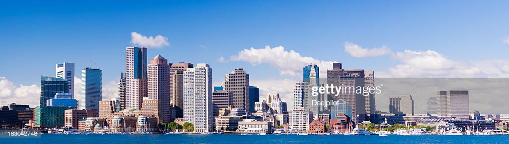Rooms: Panoramic View Of The Downtown Boston City Skyline Usa