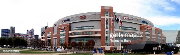 Panoramic view of the Edward Jones Dome home of the St Louis Rams football team in St Louis Missouri on November 15 2015