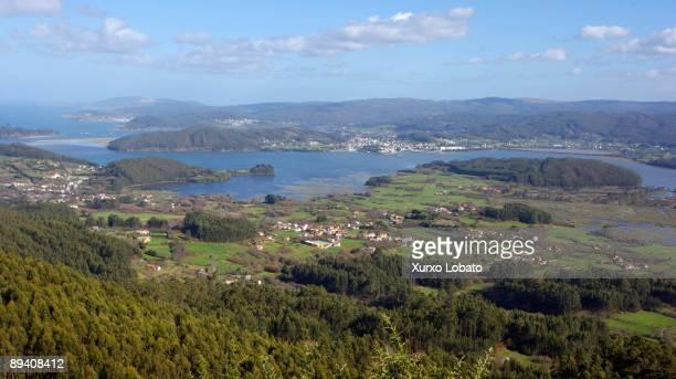 Panoramic view of the estuary of Ortigueira and Carino in Rias Altas A Coruna Spain