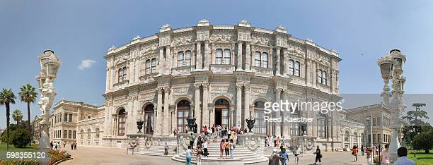 Panoramic view of the exterior facing the Bosphorus, Dolmabahce Palace