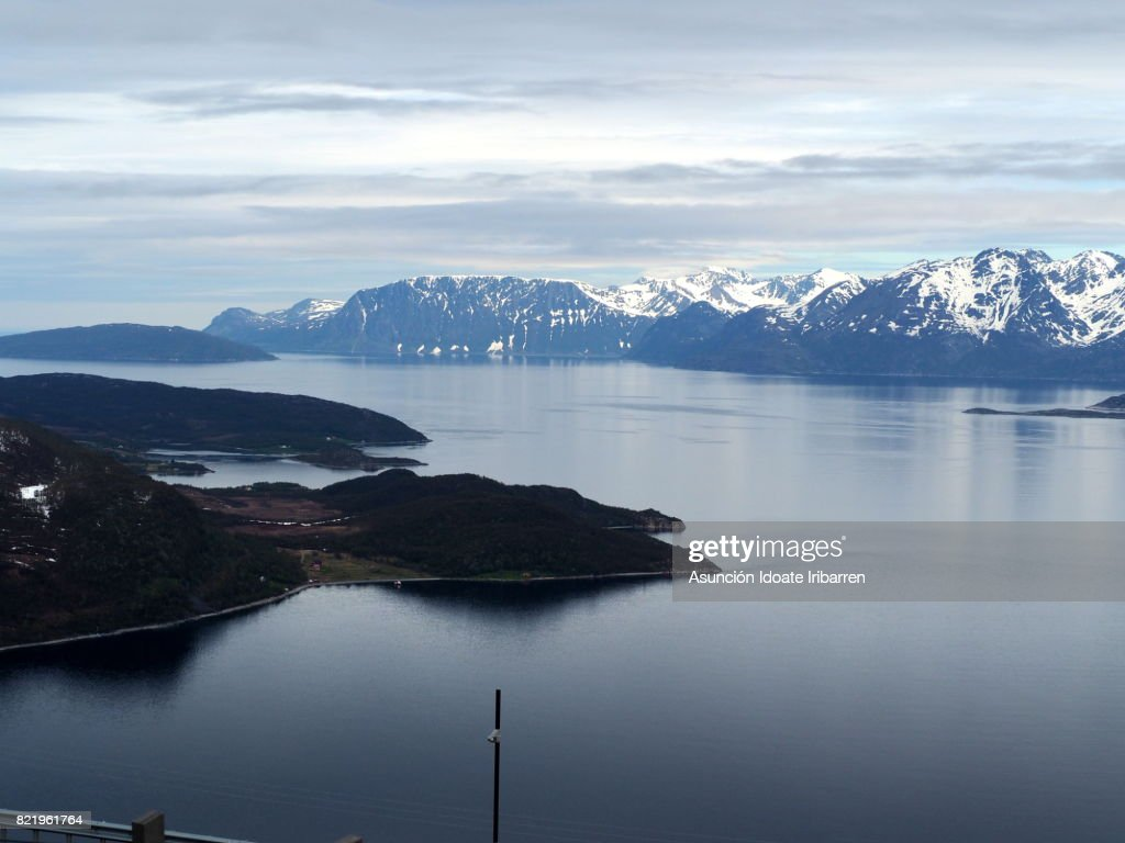 Panoramic view of the fjord : Stock Photo