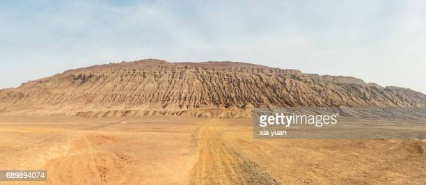 Panoramic view of  the Flaming Mountains,Turpan,China