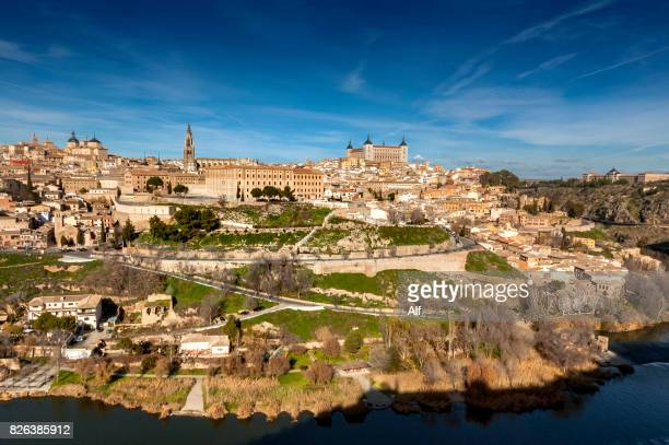 Panoramic view of the imperial city of Toledo, Spain