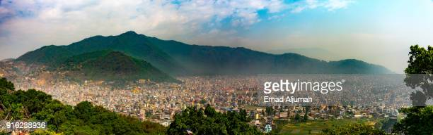 Panoramic view of the Kathmandu Valley, Nepal - April 23, 2016
