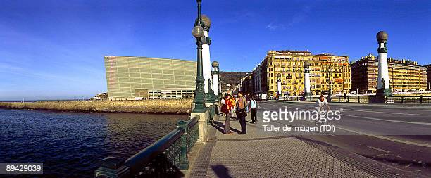 Panoramic view of the Kursaal Convention Centre and Auditorium San Sebastian Photo by Taller de Imagen /Cover/Getty Images