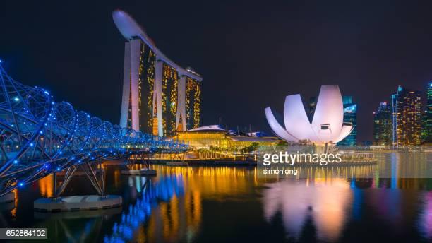 Panoramic view of the Marina Bay, Singapore.