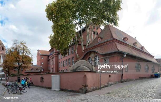 panoramic view of the music school in strasbourg city center. - emreturanphoto stock pictures, royalty-free photos & images