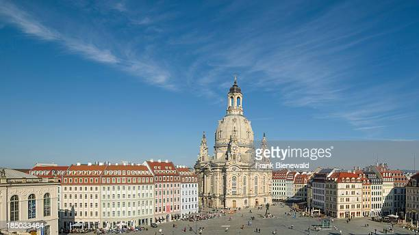 A panoramic view of the Neumarkt and the church Frauenkirche in the old part of town