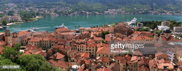Panoramic view of the old city of Kotor, Montenegro (Unesco world heritage)