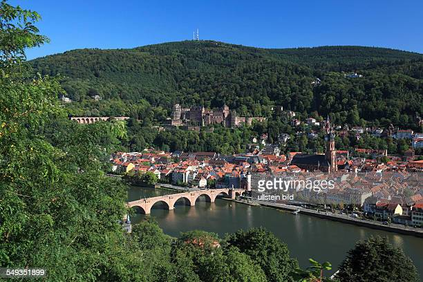 Panoramic view of the old town of Heidelberg