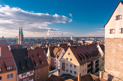 Panoramic View of The Old Town of Nuremberg City in Germany Bavaria - gettyimageskorea