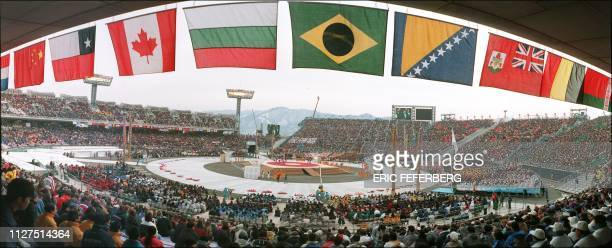 Panoramic view of the opening ceremony of the 18th Winter Olympics at Minami Nagano stadium 07 February Sme 2315 athletes from 72 countries will...