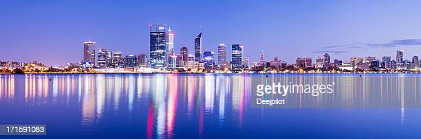 Panoramic View of the Perth City Skyline in Australia