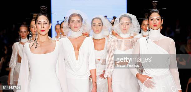 Panoramic view of the Selma State runway show during MercedesBenz Fashion Week Istanbul at Zorlu Center on October 12 2016 in Istanbul Turkey