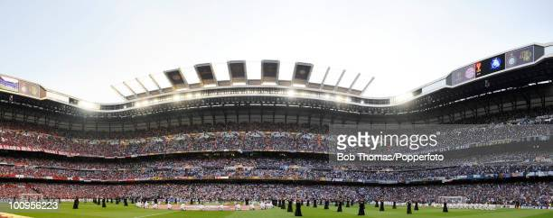 Panoramic view of the stadium before the start of the UEFA Champions League Final match between Bayern Munich and Inter Milan at the Estadio Santiago...