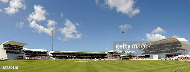 Panoramic view of the stadium during day three of the 4th Test between The West Indies and England played at The Kensington Oval on February 28, 2009...