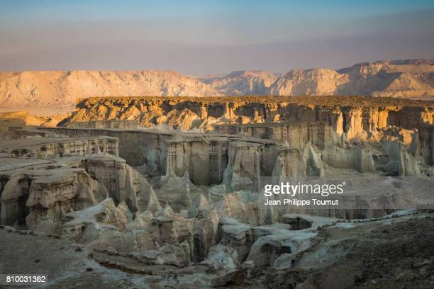 Panoramic view of the Star Valley at Dawn, Qeshm Island, Persian Gulf, Hormozgan Province, Southern Iran