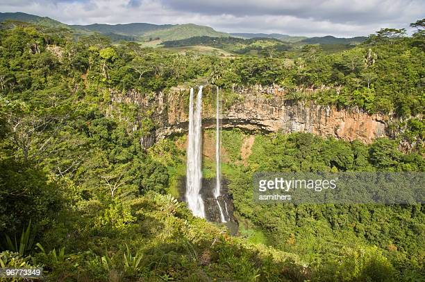 Panoramic view of the stunning Alexandra Falls in Mauritius