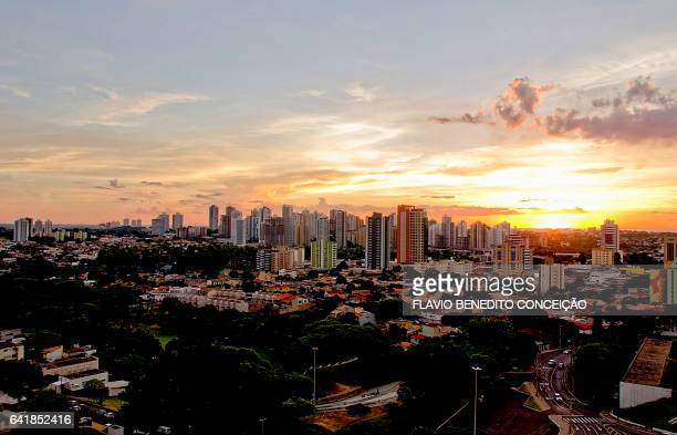 Panoramic view of the sunset in Londrina Brazil