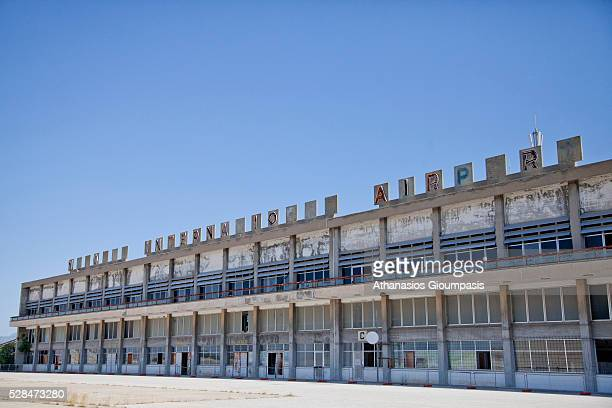 Panoramic view of the terminal building at the abandoned Nicosia International Airport on April 28, 2016 in Nicosia, Cyprus .On 27 March 1968 a...