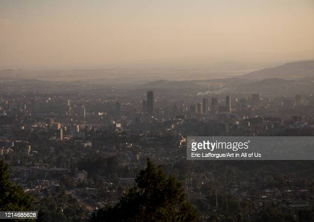 A panoramic view of the town from Entoto mountain Addis Ababa Region Addis Ababa Ethiopia on December 1 2019 in Addis Ababa Ethiopia