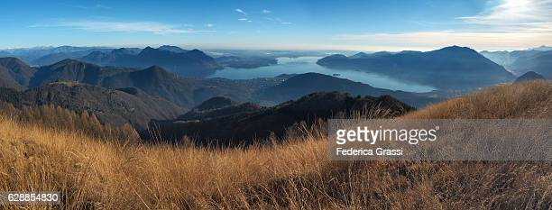 panoramic view of the verbano cusio ossola province from mount todano - province of verbano cusio ossola stock pictures, royalty-free photos & images